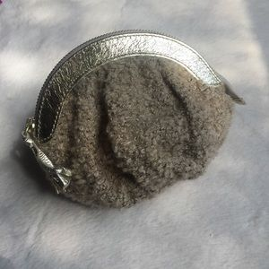 Miss Albright Boucle Knit & Gold Tassel Coin Purse